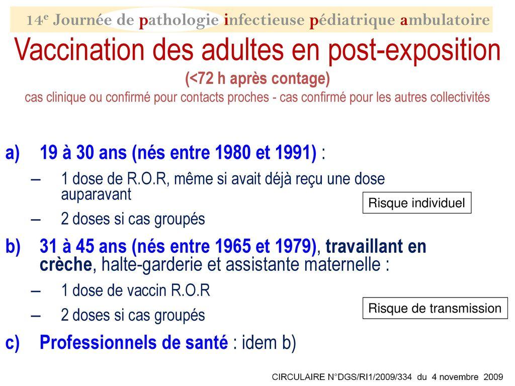 vaccin 30 ans