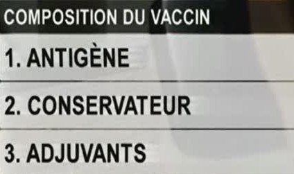 vaccin grippe composition