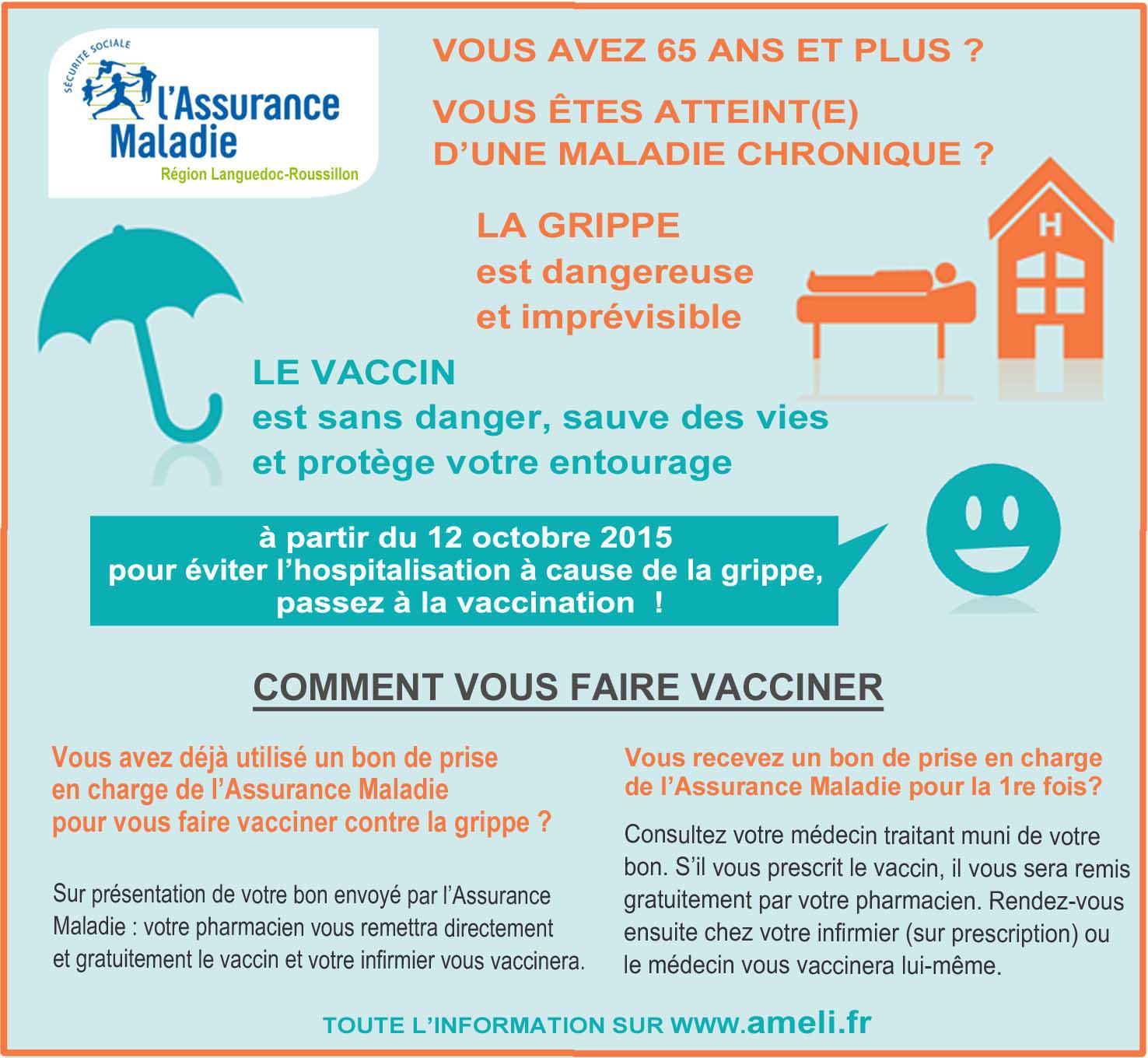 vaccin grippe octobre 2015