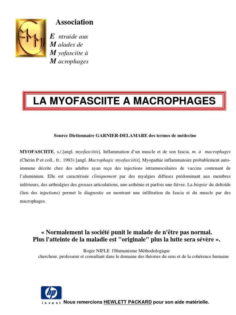 vaccin hepatite b et myopathie