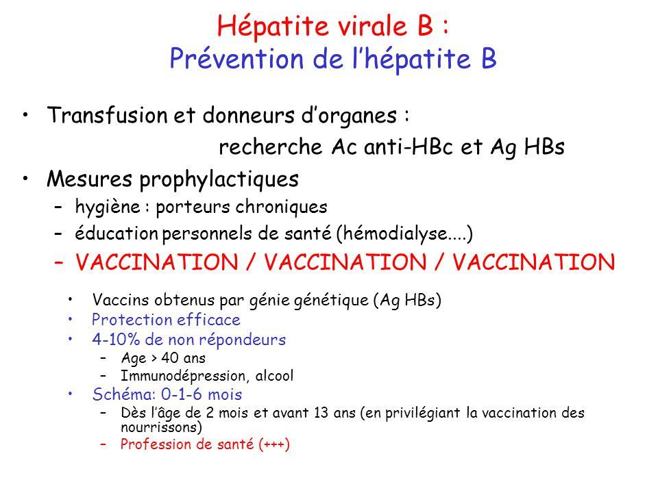 vaccin hepatite b non repondeur