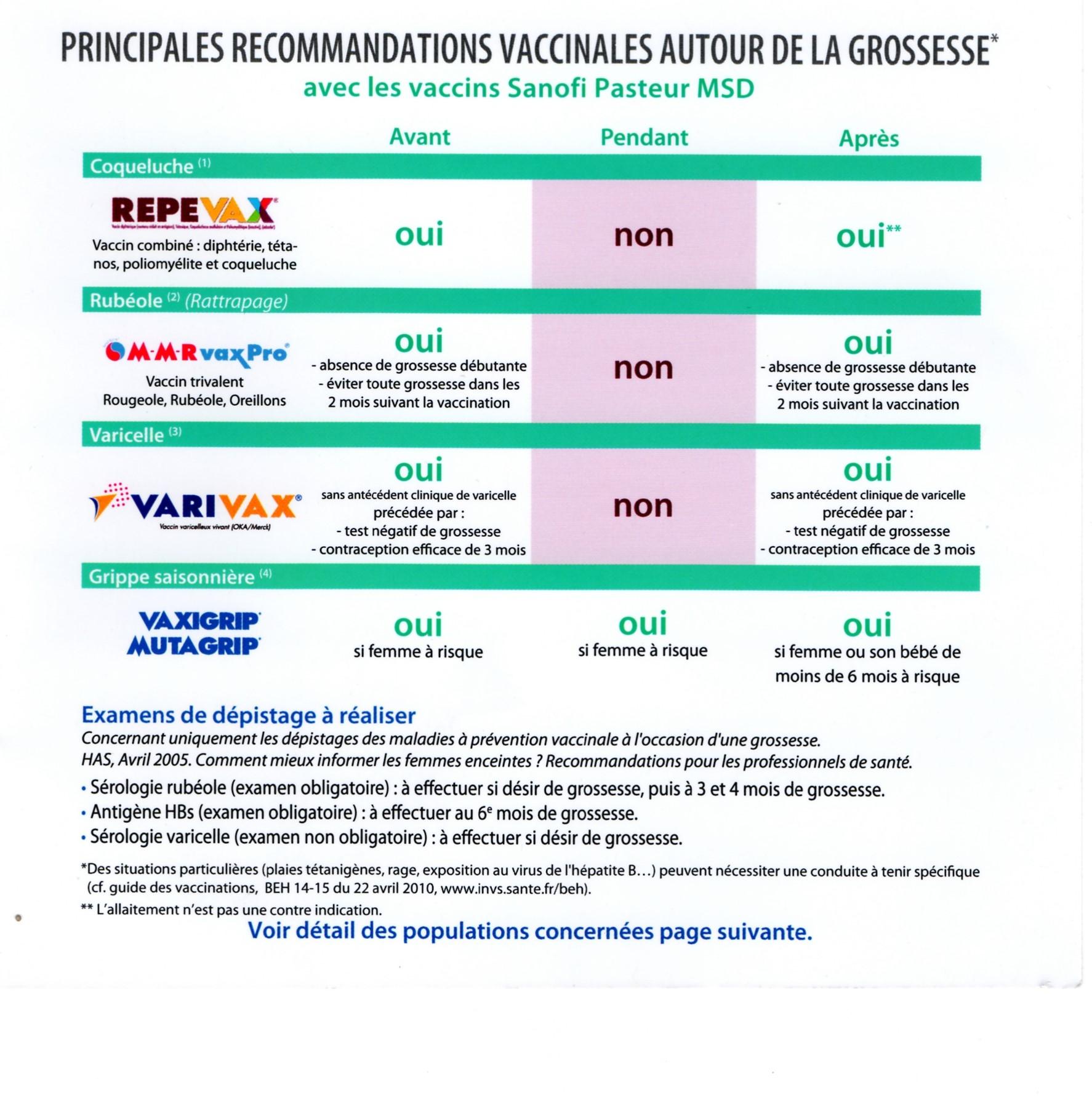 vaccin hepatite b pendant la grossesse