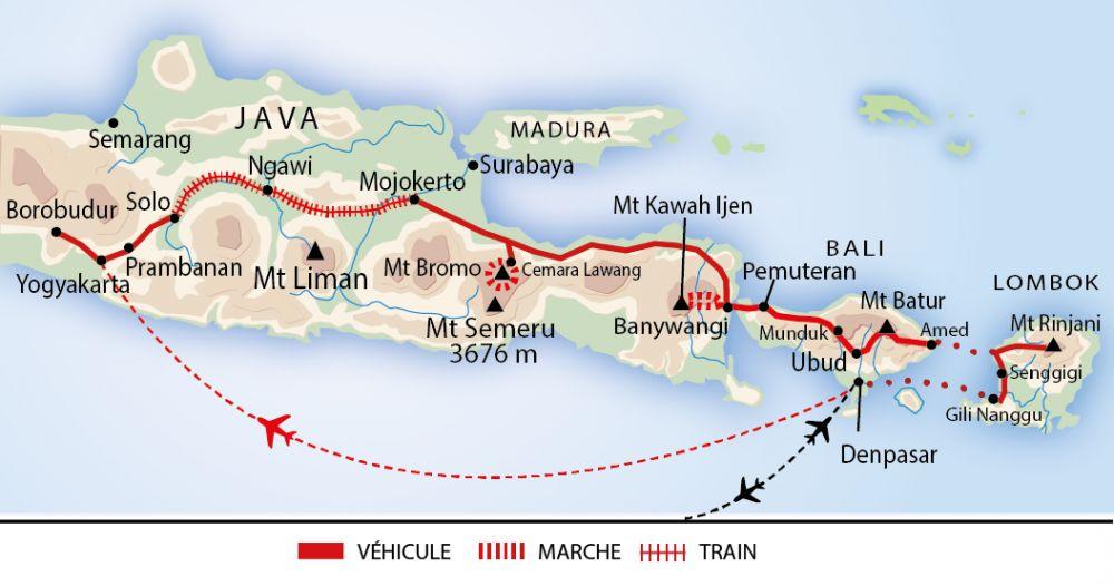 Carte Java Bali Lombok.Vaccin Java Bali