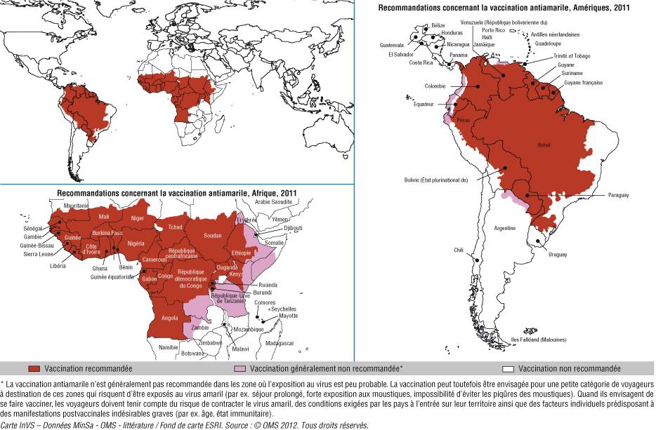 vaccin obligatoire amerique du sud