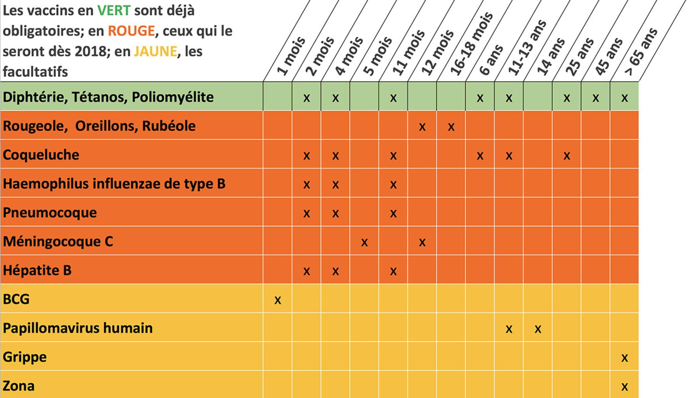 vaccin obligatoire en france 2018