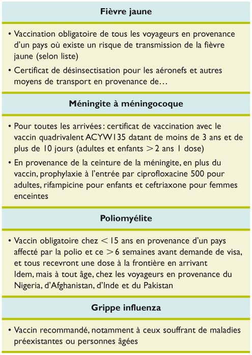 vaccin obligatoire mecque
