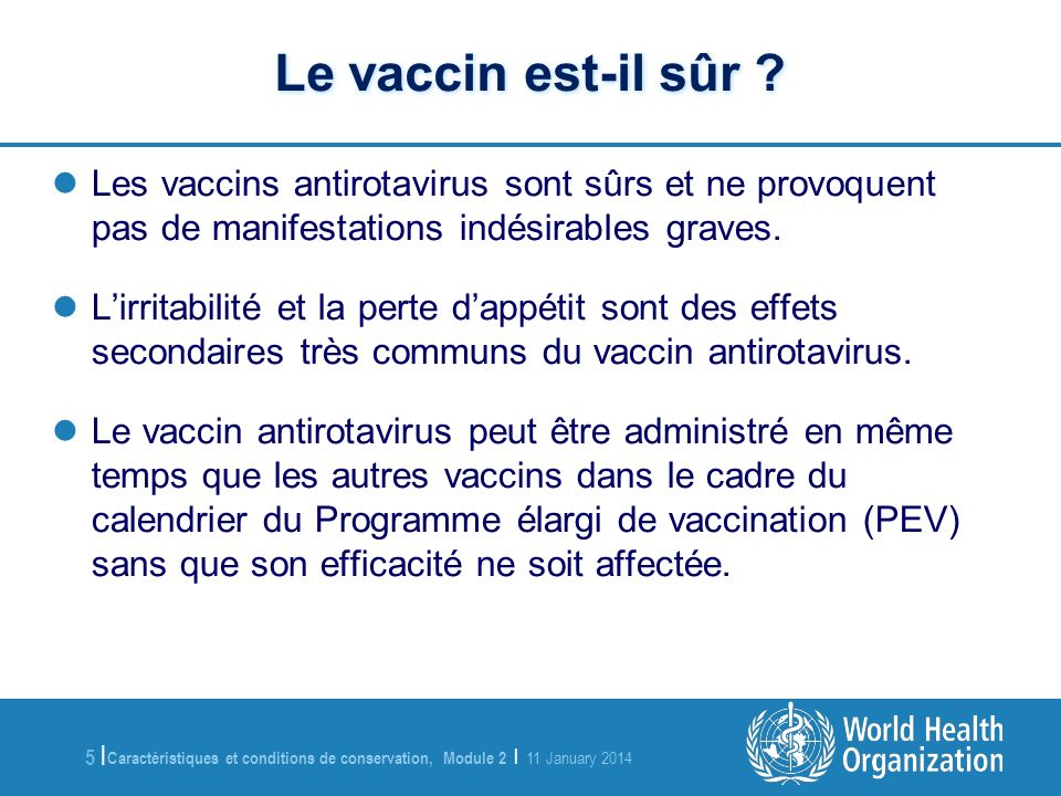 vaccin 4 mois perte d'appetit