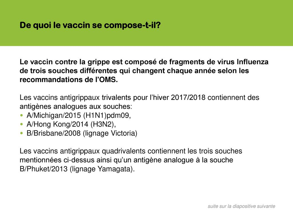 vaccin grippe 2015 4 souches