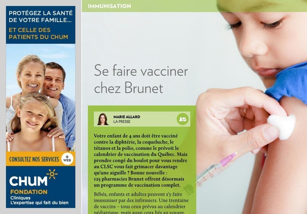 vaccin grippe brunet