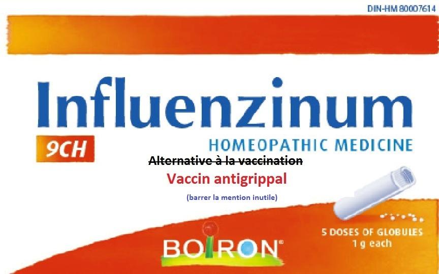 vaccin grippe homeopathique boiron