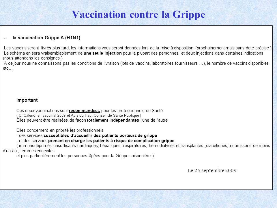 vaccin grippe immunodeprime