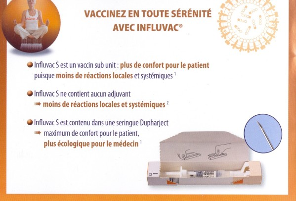 vaccin grippe influvac