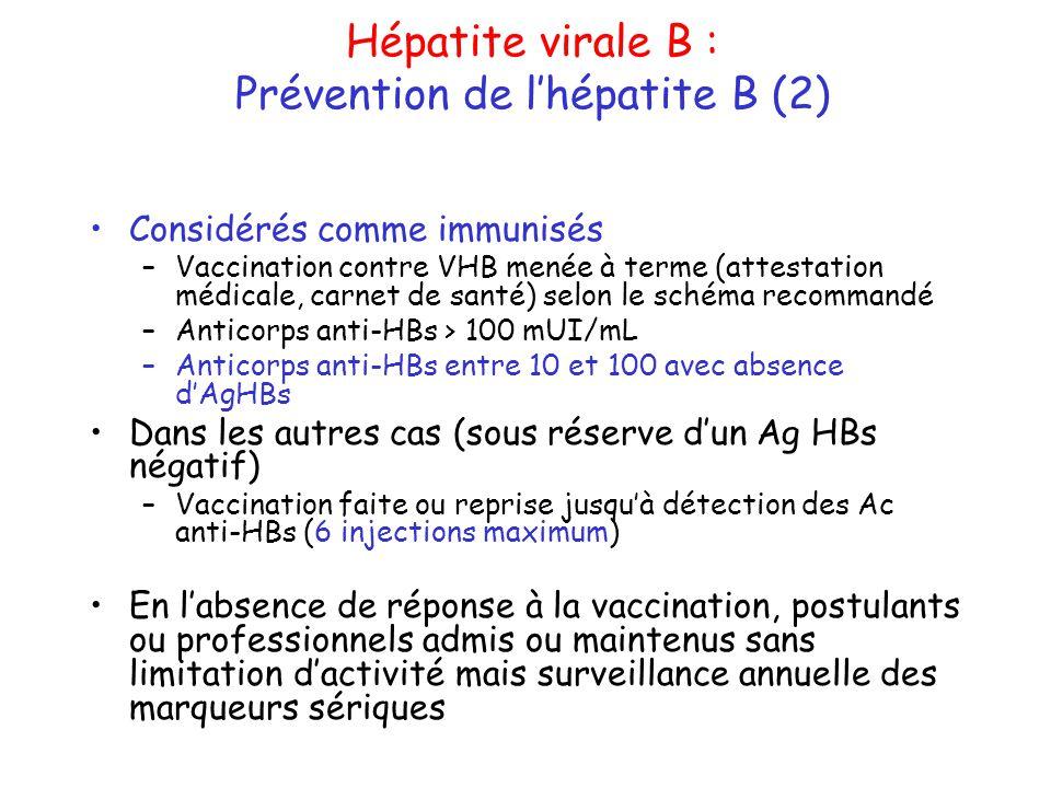 vaccin hepatite b mais pas d'anticorps