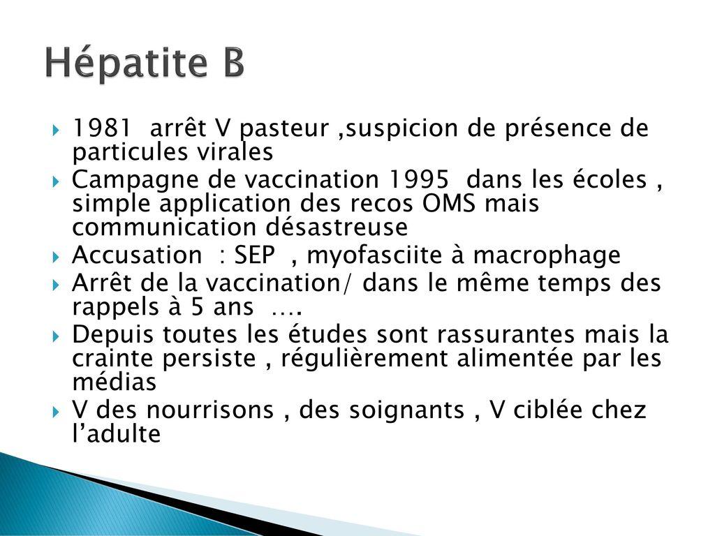 vaccin hepatite b myofasciite macrophage