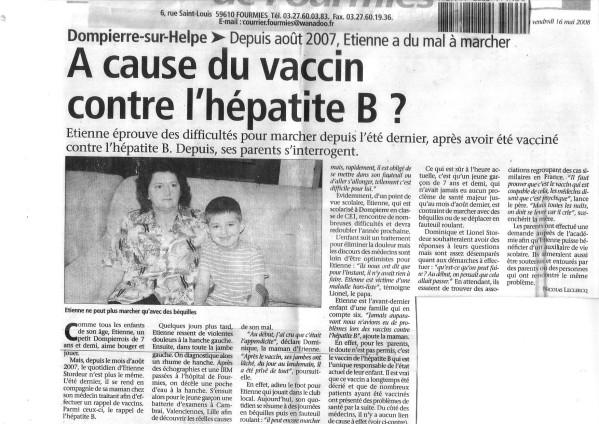 vaccin hepatite b polemique