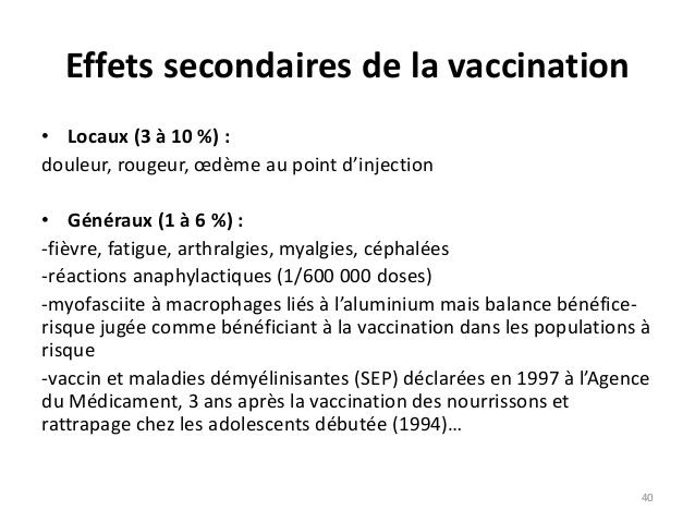 vaccin hepatite b reaction