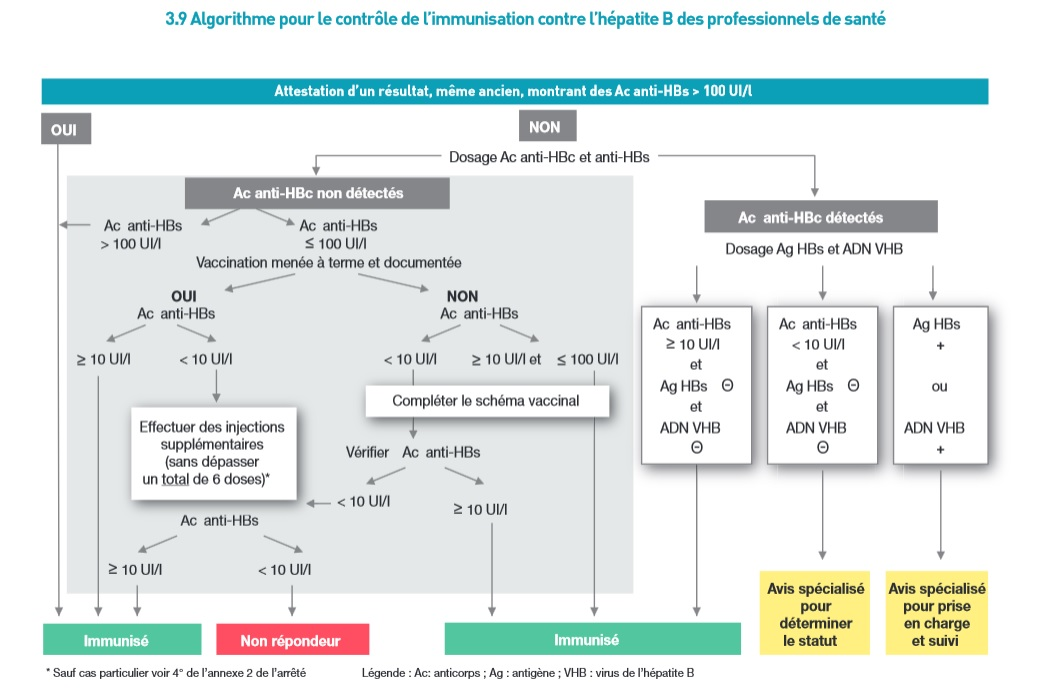 vaccin hepatite b recommandation