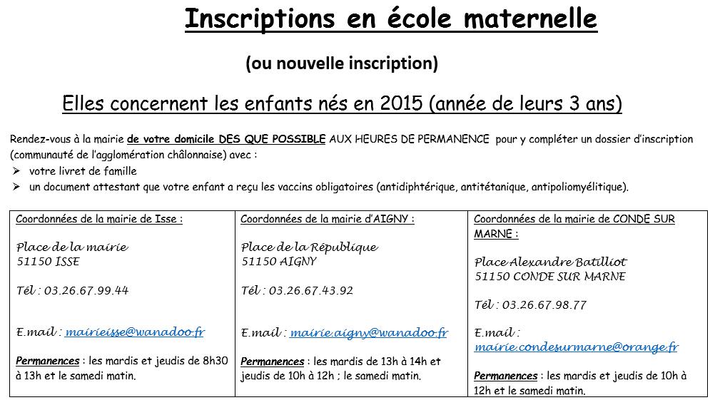 vaccin obligatoire inscription maternelle