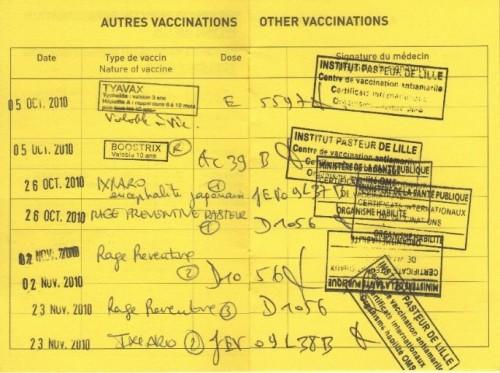vaccin obligatoire pour inde