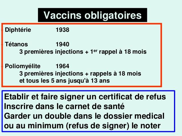 vaccin obligatoire refus