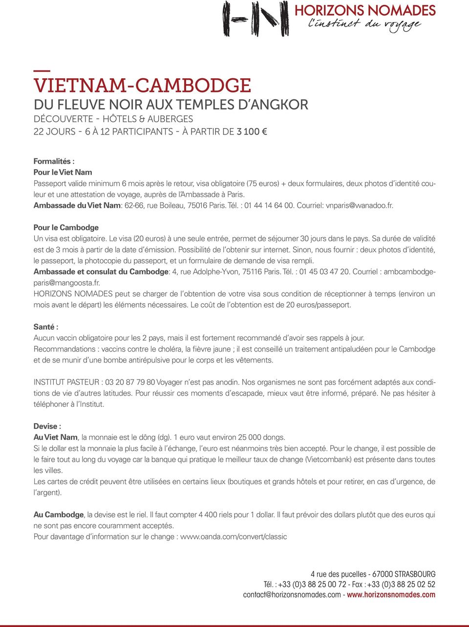 vaccin obligatoire voyage vietnam
