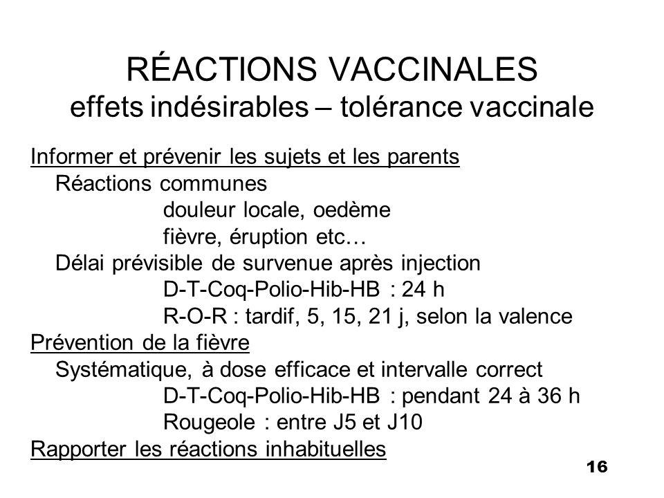 vaccin quinta effets secondaires